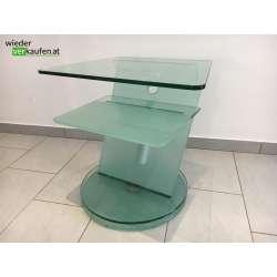 Glas TV- Tisch- massiv