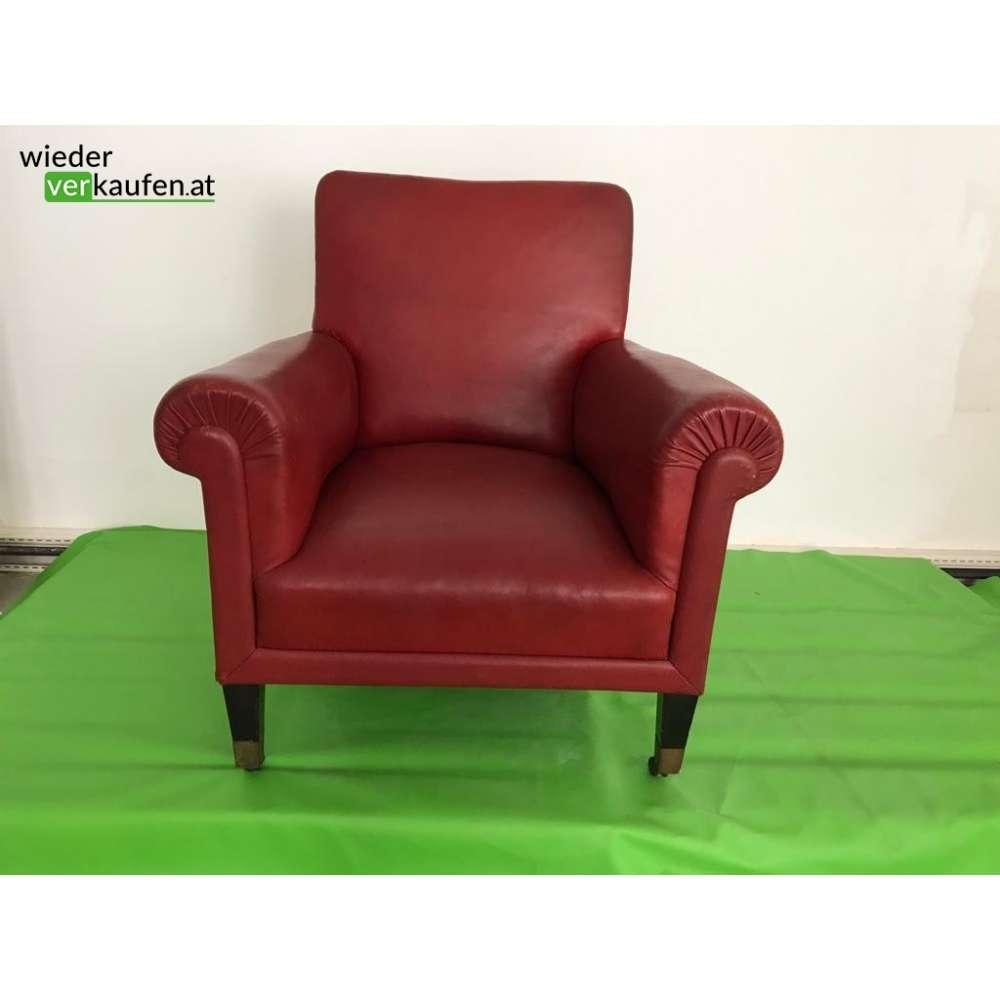 dunkelrotes vintage lederfauteuil. Black Bedroom Furniture Sets. Home Design Ideas