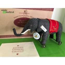Steiff Filzelefant auf Rädern