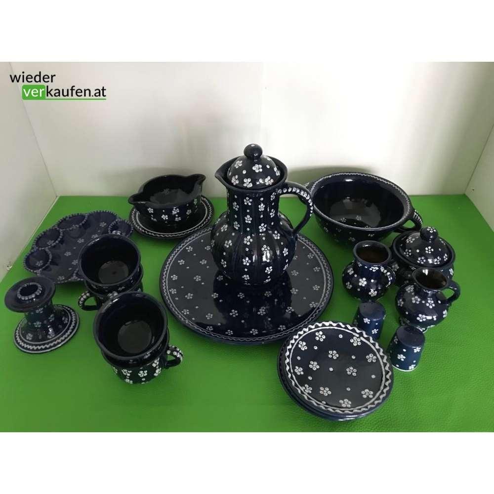 gmundner keramik dirndl blau set. Black Bedroom Furniture Sets. Home Design Ideas