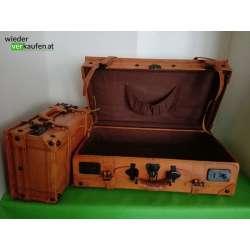 Vintage Leder Reisekoffer Set