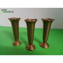 3 kleine Messing Vasen