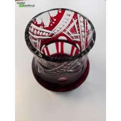 Vase- rotes Kristallglas...
