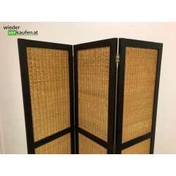 Toller Holz- Bambus Paravant