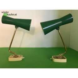 Vintage Wandlampen grün 2er...