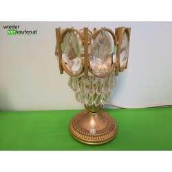 Tischlampe mit Kristallglas