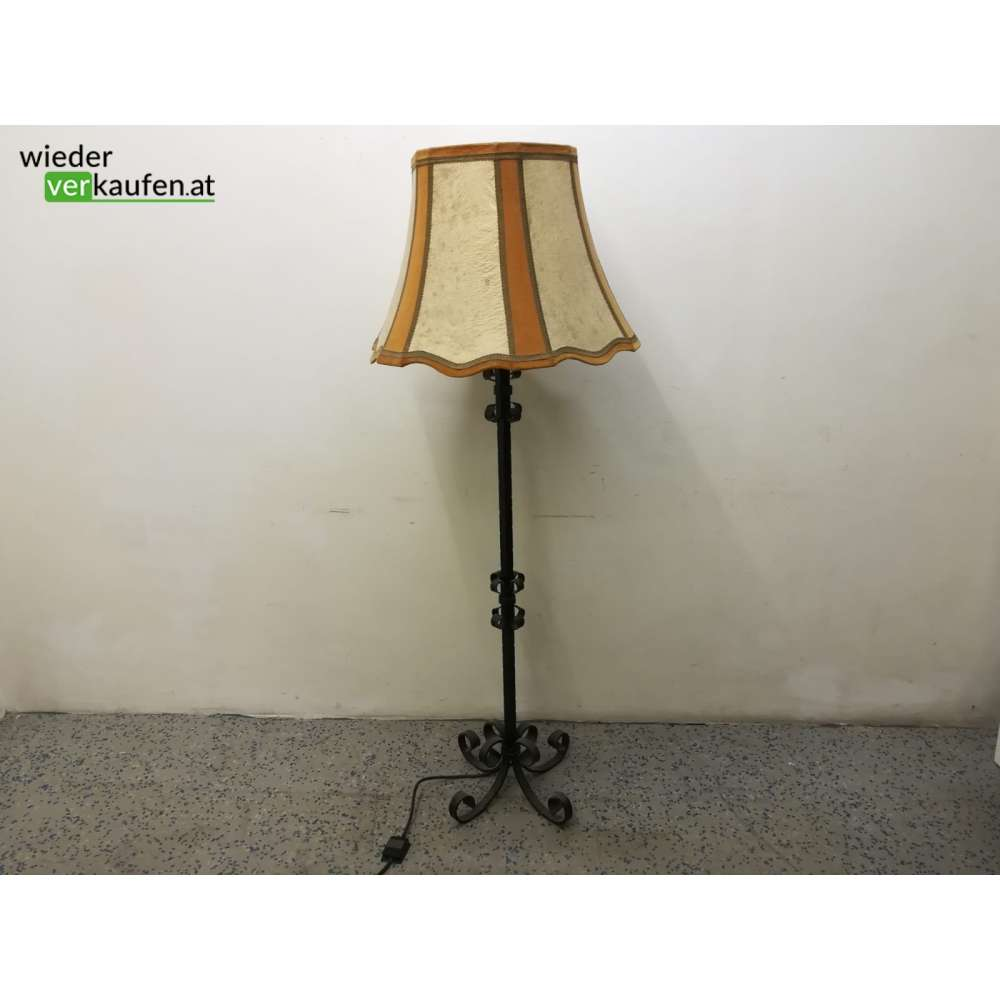 Schmiedeeisen Stehlampe Mit Schonem Schirm