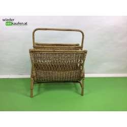 Bambus Zeitungsständer um 1960
