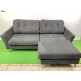 Gutmann blau-graue L- Couch