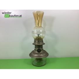 Petroleum/Öllampe mit Zinn-...