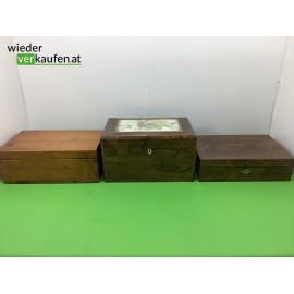 Antikes Holzschatullen- Set...