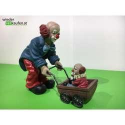 Gilde Clown mit Kinderwagen