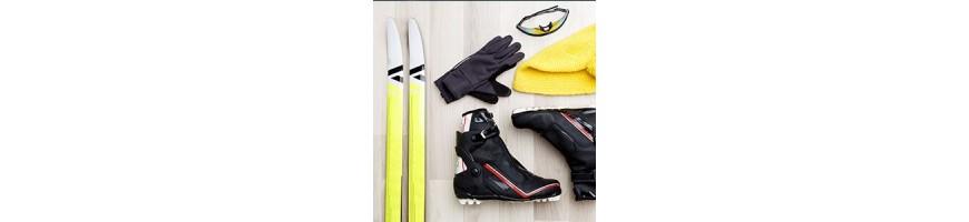 Ski + Schuhe + Zubehör
